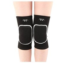 George Jimmy Exercise & Fitness Knee Brace Yoga/Dance/Joint Pain Knee Pads L Bla - $14.29