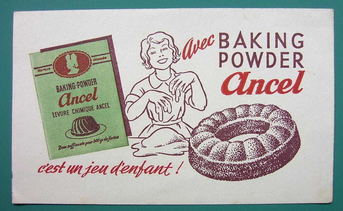 BAKING POWDER Ancel - c 1960 Ink Blotter Advertisement