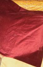Pottery Barn Solid Burgundy Standard Tailored Pillow Sham EUC 100% Cotton - $29.67