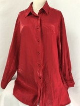 Karen Scott II Rojo Brillo Blusa, Mujer Talla 2X - $24.93