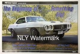 Pontiac 1969 Trans Am Print Ad 16 1/2 X 10 3/4 - $9.97