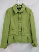 Talbots Wool Blend Lined Green Button Blazer Jacket Sz. 14 EUC 1066 - $20.20