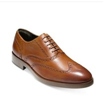 Cole Haan Men's Henry Grand Short Wing-Tip Oxfords Size 10 M Brown-New - $118.80