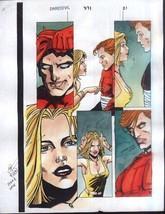 Vintage original 1990's Marvel Comics Daredevil 371 page 21 color guide ... - $39.59