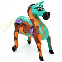 "Handmade Alebrijes Oaxacan Wood Carved Painted Folk Art Horse 3.5"" Figurine image 1"