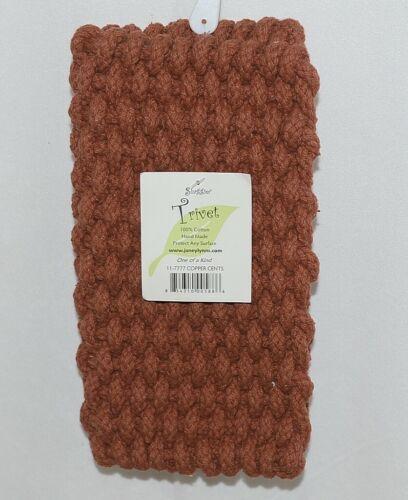 Shaggies Trivet 117777 Copper Cents Color Handmade 100 Percent Cotton