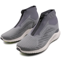 Adidas Mens Alphabounce Zip M BW1385 Grey/White Running Shoes Continenta... - $80.78