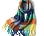 2020 New Women Plaid Scarf Winter Pashmina Shawls Cashmere Thick Wraps Lady Tass