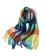 2020 New Women Plaid Scarf Winter Pashmina Shawls Cashmere Thick Wraps Lady Tass - $20.99
