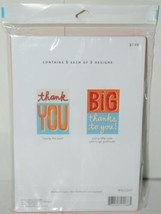 Hallmark WWZ1007 Thank You Cards 5 Each of 2 Designs Pkg 10 image 2