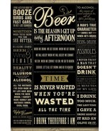 NEW Drinking Quotes Cool Wall Decor Art Print Poster 24x36 Free Shipping - $23.73