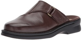 CLARKS Women's Patty Nell Mule, Dark Brown Leather, 10 M US - $108.52