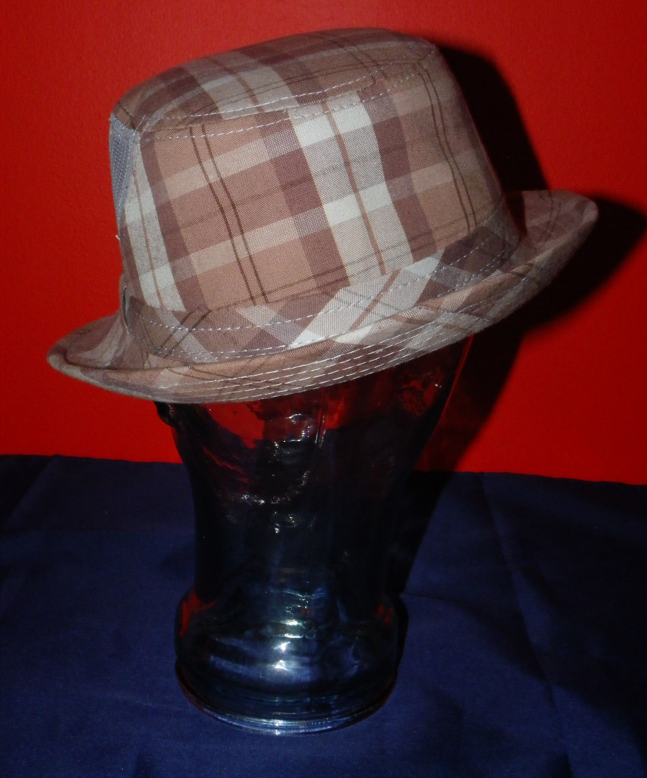 Dorfman Pacific Authentic Handmade Headwear Size M Warm Plaid Fedora Trilby image 5