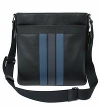NWT Coach F23216 Men's Charles Varsity Blk Midnight Dnm Crossbody Bag Navy - $169.54