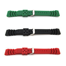 New ORIGINAL SEIKO MONSTER Watch Strap Band Mens PU Rubber Red Black Green - $35.83