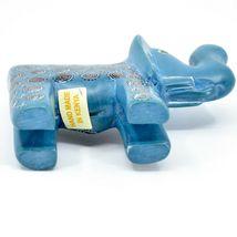 Hand Carved Gusii Soapstone Blue Elephant w Swirl Design Figurine Made in Kenya image 6