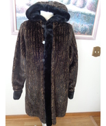 Regent Park Reversible Coat to Raincoat Animal Print Black Brown 95332 W... - $127.49