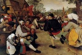 Dance of the Peasants - Detail - by Pieter the Elder Brueghel - Art Print - $19.99+