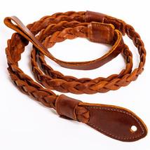 Henry Heller HMANBTN-BRN Brown Vintage Americana Mandolin Flat Braid Strap - $37.61