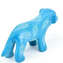 Vaneal Group Hand Crafted Carved Soapstone Light Blue Standing Puppy Dog Figure image 4