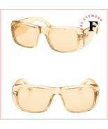 TOM FORD ARISTOTLE Transparent Yellow Crystal Wrap 0731 Sunglasses FT073... - $207.90