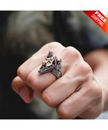 Wolf Ring Stainless Steel Punk Rock Anubis Egyptian Mythology Old God Ring - $6.92