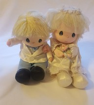 Vintage 1986 precious moments wedding couple doll set (musical - not tes... - $29.44