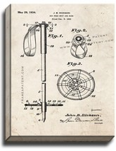Ski Pole Grip And Ring Patent Print Old Look on Canvas - $39.95+