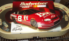 Dale Earnhardt Jr. Budweiser Nascar Sign Lights Up with Moving Cars - $374.00