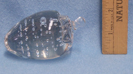 Vintage Glass Strawberry Shaped Paperweight Mad... - $10.84
