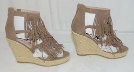 BF Betani Shiloh 8 Stone Fringe Wedge Heel Sandals Size 7 And Half image 4