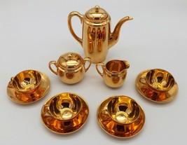 Gold Tea Set Demitasse Pre War Bavarian GORGEOUS Completely Covered 13 P... - $182.33