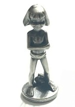 "Vintage Walt Disney Fine Pewter Collectible figure 1.5"" collectible Mowgli - $14.01"