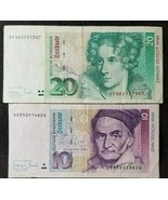 GERMANY LOT OF 2 BANKNOTES ALL DIFFERENT  RARE XF NO RESERVE - $27.66