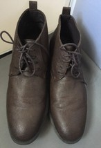 Guess Norway Brown Faux Leather Ankle Boots Size Men's Size 8.5M - $29.95
