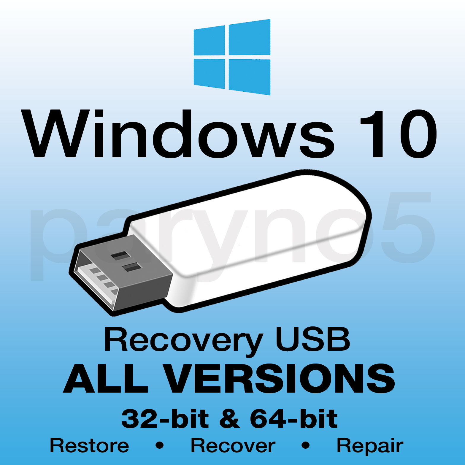 how to make a restore usb for widows 10
