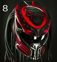Predator Motorcycle Helmet Red Skull (Dot / Ece Certified) - $355.00