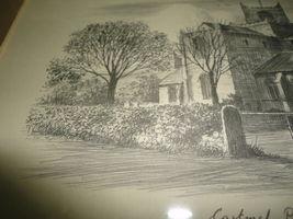 Original Art UK Artist JUDGES Pencil Sketch Cartmel Priory Cumbria Framed image 4