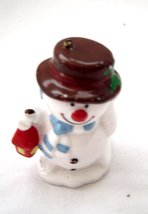 Glass Snowman Ornament with Lantern Scarf and Hat - $10.99