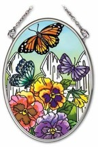 Amia 41701 4-1/4-Inch Hand-Painted Glass Oval Sun Catcher, Small, Pansy ... - €16,80 EUR