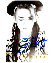 BOY GEORGE  Authentic Original  SIGNED AUTOGRAPHED PHOTO w/ COA 1337 - $60.00
