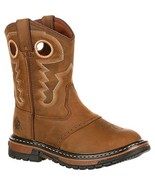 Rocky Unisex FQ0003575 Western Boot, Old Town Brown/tan, 2.5 M US Little... - $120.55