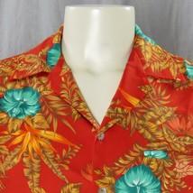 Hilo Hatties Floral & Foliage Hawaiian Shirt Medium Birds Of Paradise Al... - $45.81