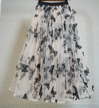Black Champagne Tulle Skirt Evening Maxi Skirt Tulle Prom Skirt Plus Size image 9