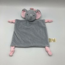 """Dan Dee 10"""" Elephant Lovey Plush Rattle Knotted Security Blanket Gray Pink  - $17.81"""