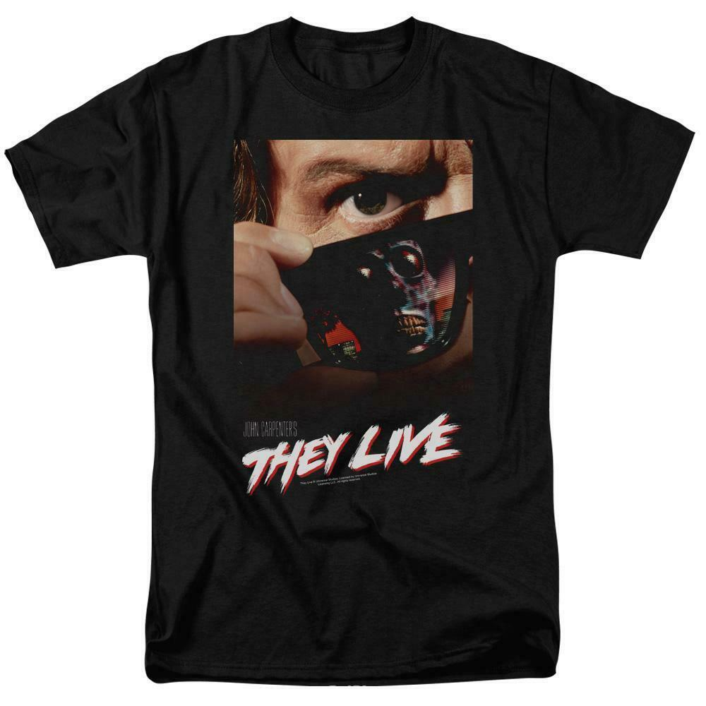 They Live t-shirt retro 80s Sci-Fi movie poster Roddy Piper graphic tee UNI607