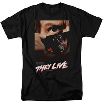 They Live t-shirt retro 80s Sci-Fi movie poster Roddy Piper graphic tee UNI607 image 1