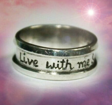 HAUNTED RING COME LIVE WITH ME & BE MY LOVE MAGICK MYSTICAL TREASURES 7 SCHOLAR - $337.77