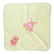 Plush Pink Green Bunny Nunu Lovey Security Blankets Beyond Big Eyes Rabbit - $15.79