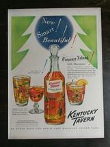 Vintage 1951 Kentucky Tavern Bourbon Whiskey Decanter Full Page Original... - $6.64